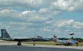 Friday F-86 & F-15 holding back while F-16 launches