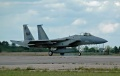 F-15A from Otis comes in for static display